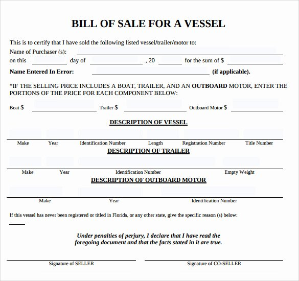 8 Boat Bill Of Sale Templates to Free Download