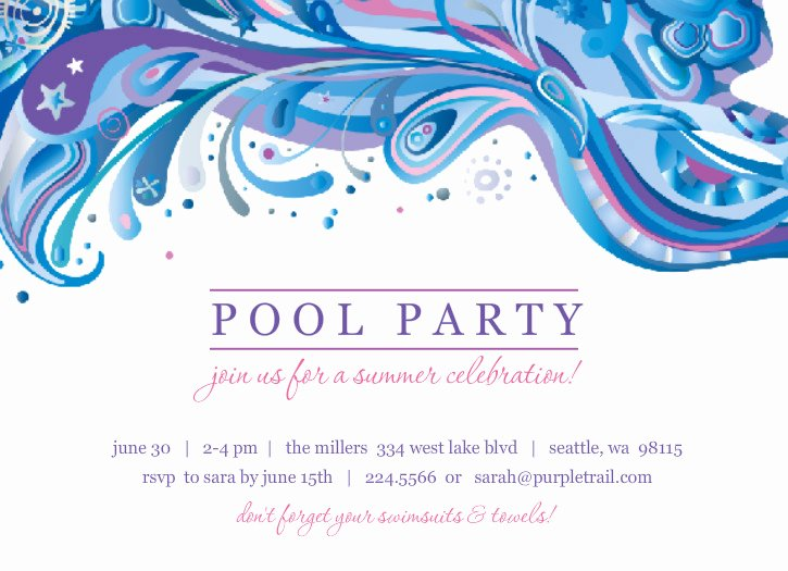 8 Brave Pool Party Invitation Backgrounds