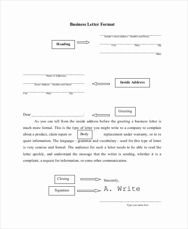 8 Business Letter formats – Samples Examples Templates
