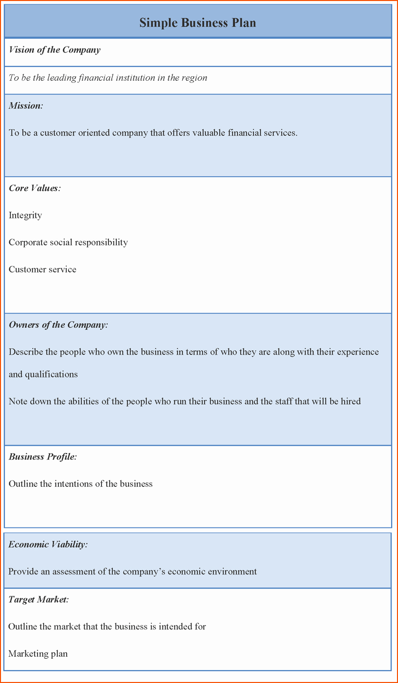 8 Business Plan Template Word Bookletemplate