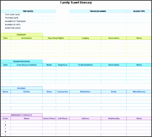 8 Camping Trip Planner Template In Excel
