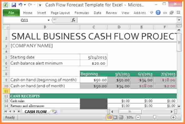 8 Cash Flow Spreadsheet Template
