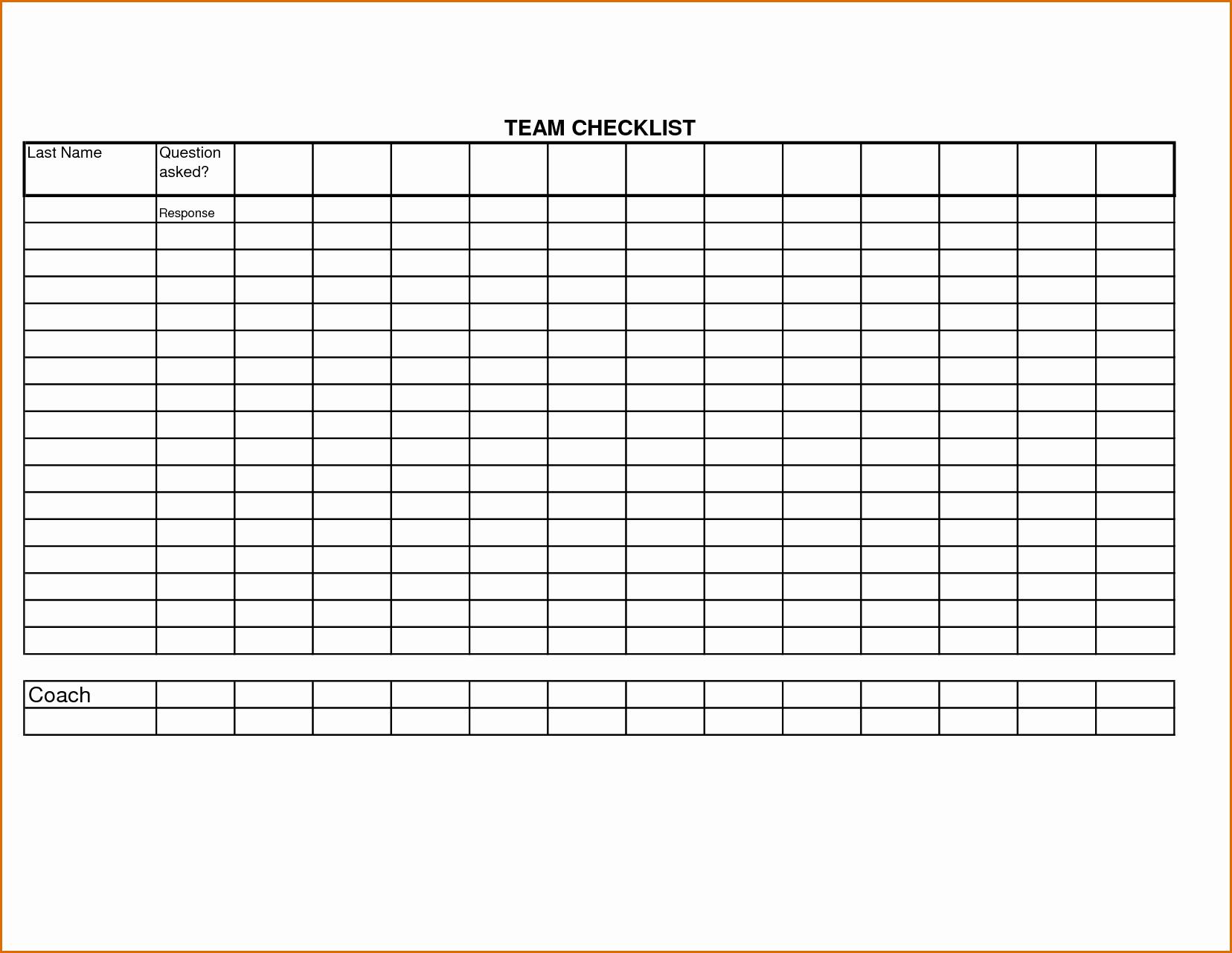 8 Checklist Template