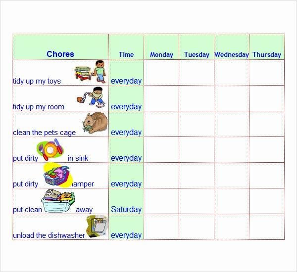 8 Chore List Templates