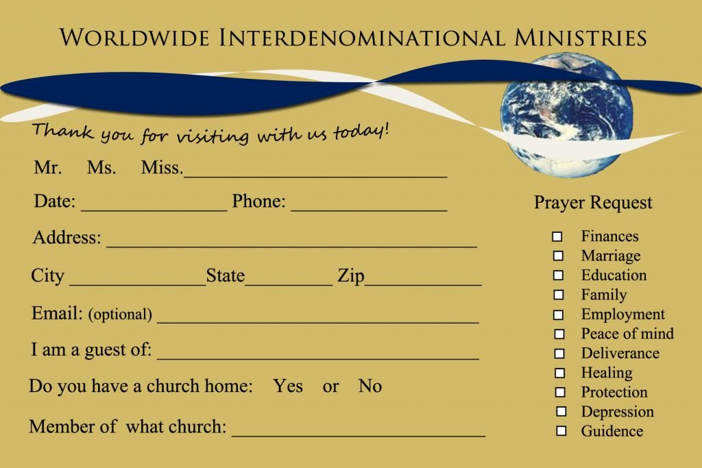 8 Church Connection Card Templates