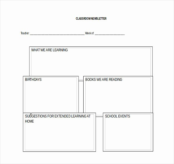 8 Classroom Newsletter Templates Free Sample Example