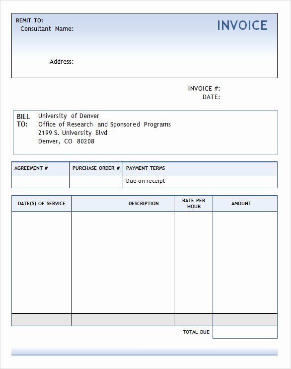 consulting invoice template