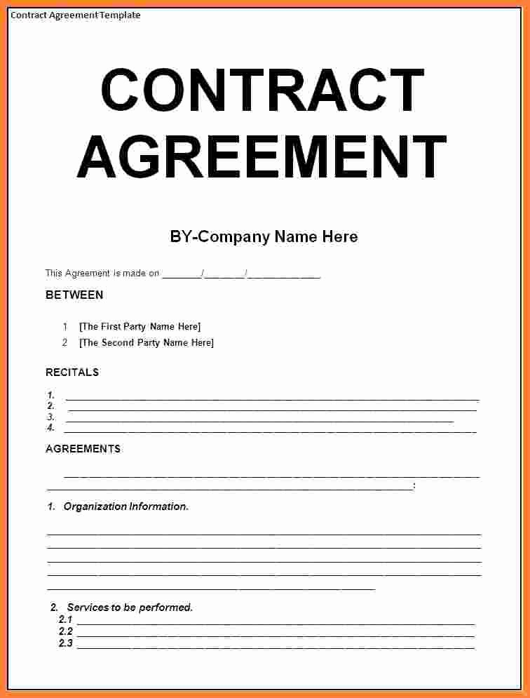 8 Contract Agreement Template