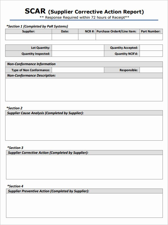 8 Corrective Action Report Templates – Free Word Pdf