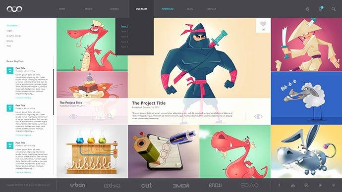 8 Creative Free Portfolio Psd Web Templates
