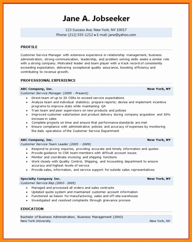 8 Customer Service Manager Resume Sample