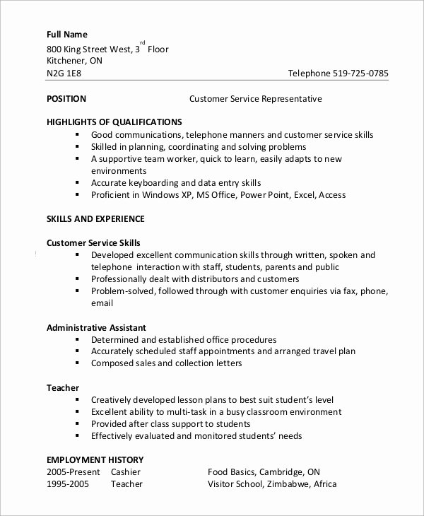 8 Customer Service Resume Examples