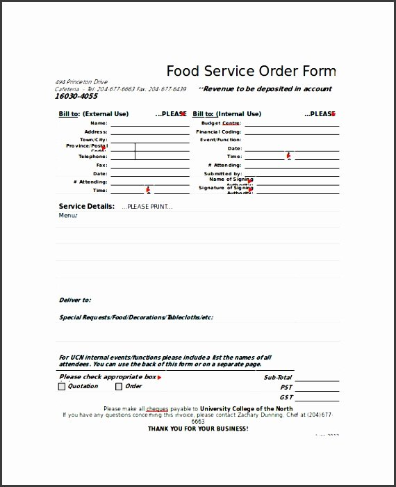 8 Easy to Use Sample order form Template