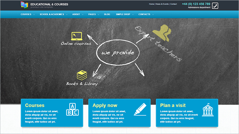 8 Education PHP themes & Templates Free Download