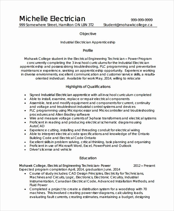 8 Electrician Resume Templates