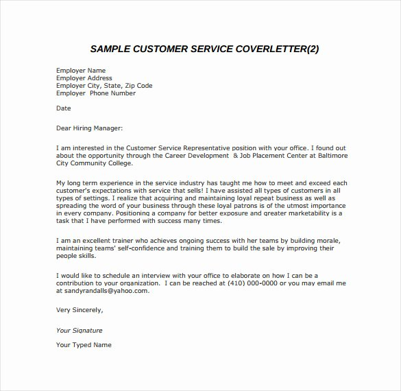 8 Email Cover Letter Templates Free Sample Example