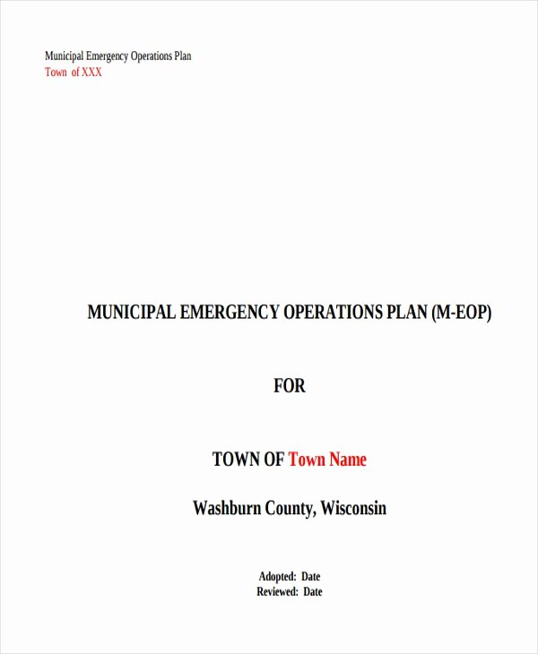 8 Emergency Operations Plan Templates Free Sample