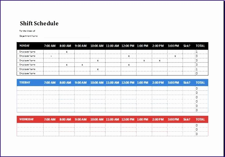 8 Employee Shift Schedule Exceltemplates Exceltemplates