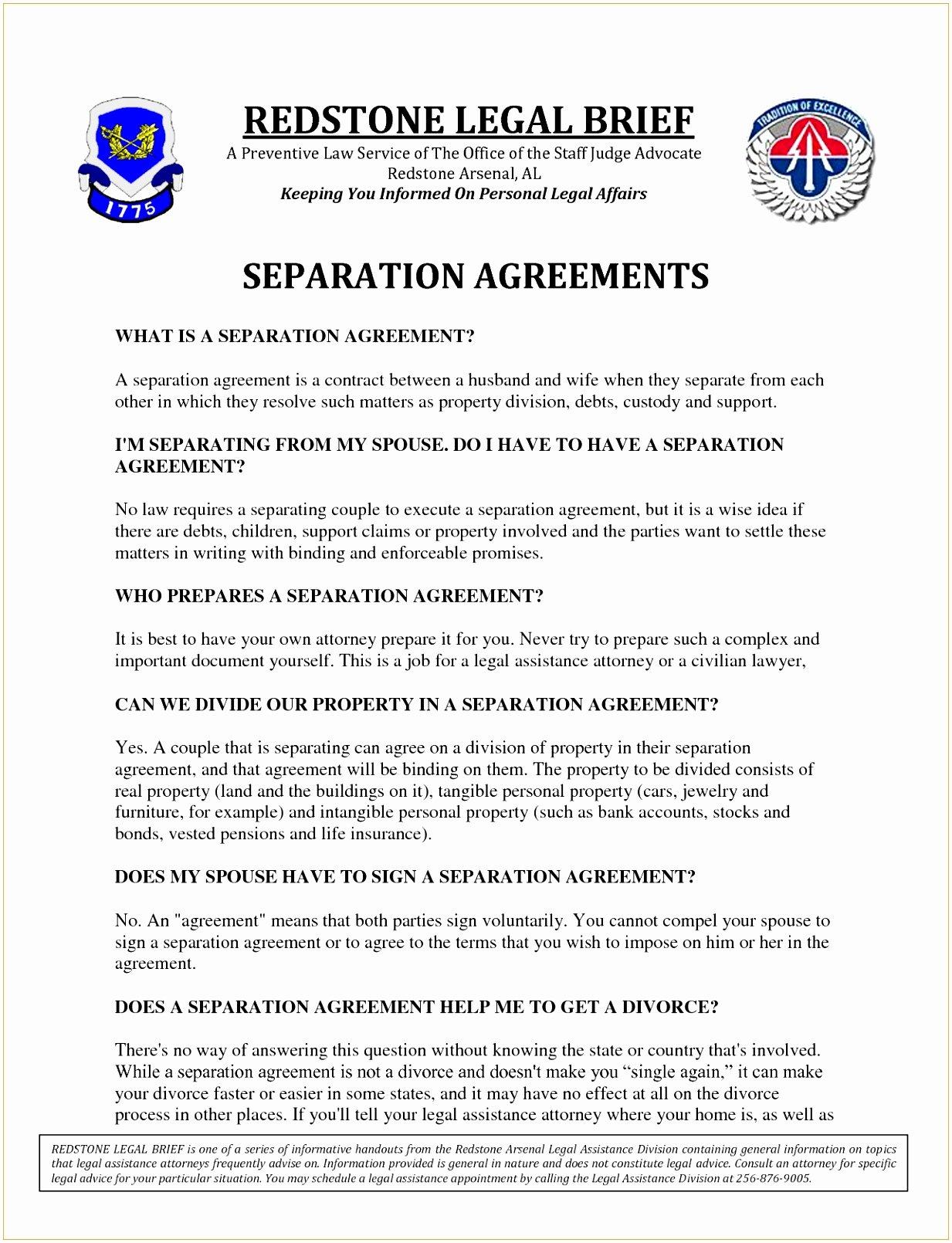 8 Employment Separation Agreement Template Etepu