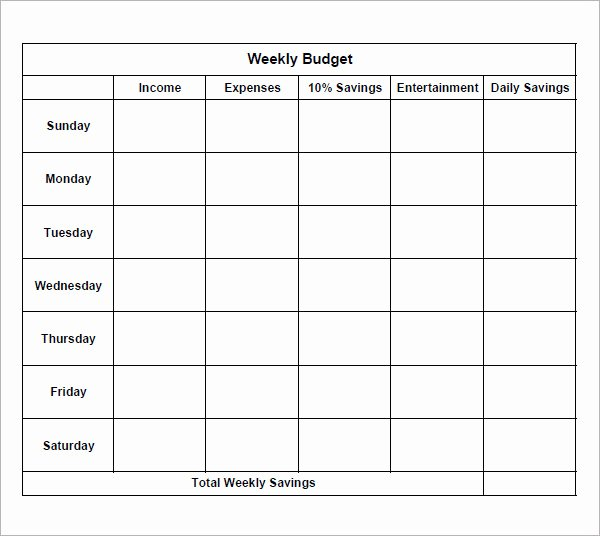 8 Examples Of Bi Weekly Bud Templates