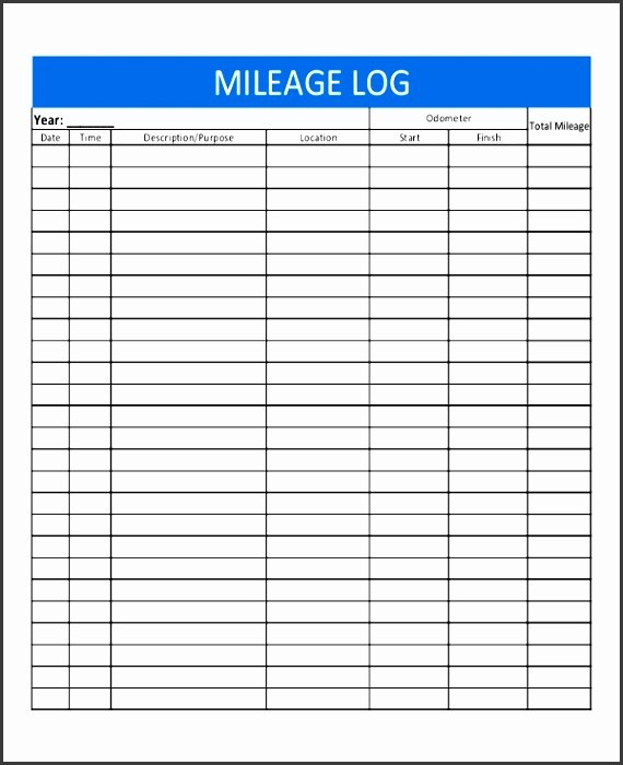 8 Excel Mileage Log Template Sampletemplatess