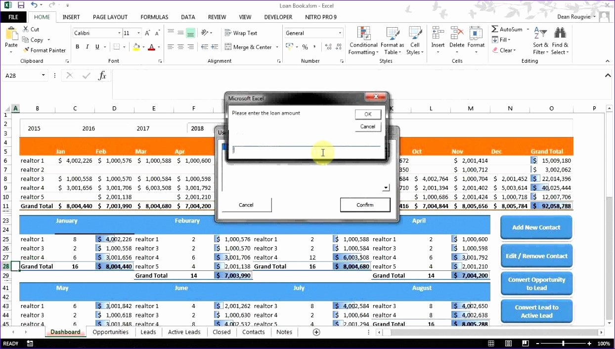 8 Excel Spreadsheet Dashboard Templates Exceltemplates