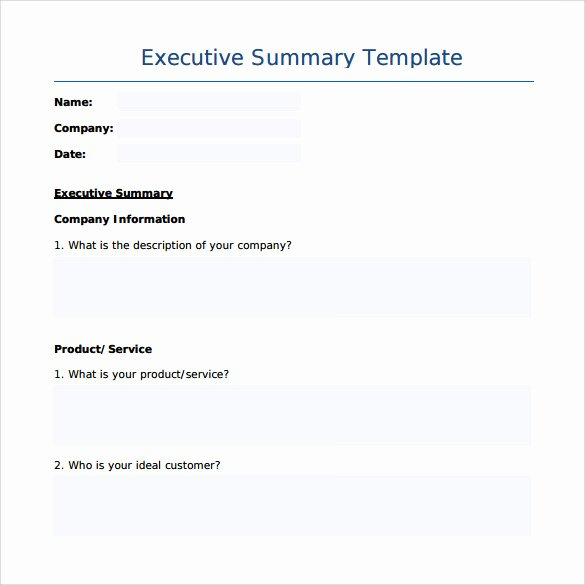 8 Executive Summary Templates – Samples Examples
