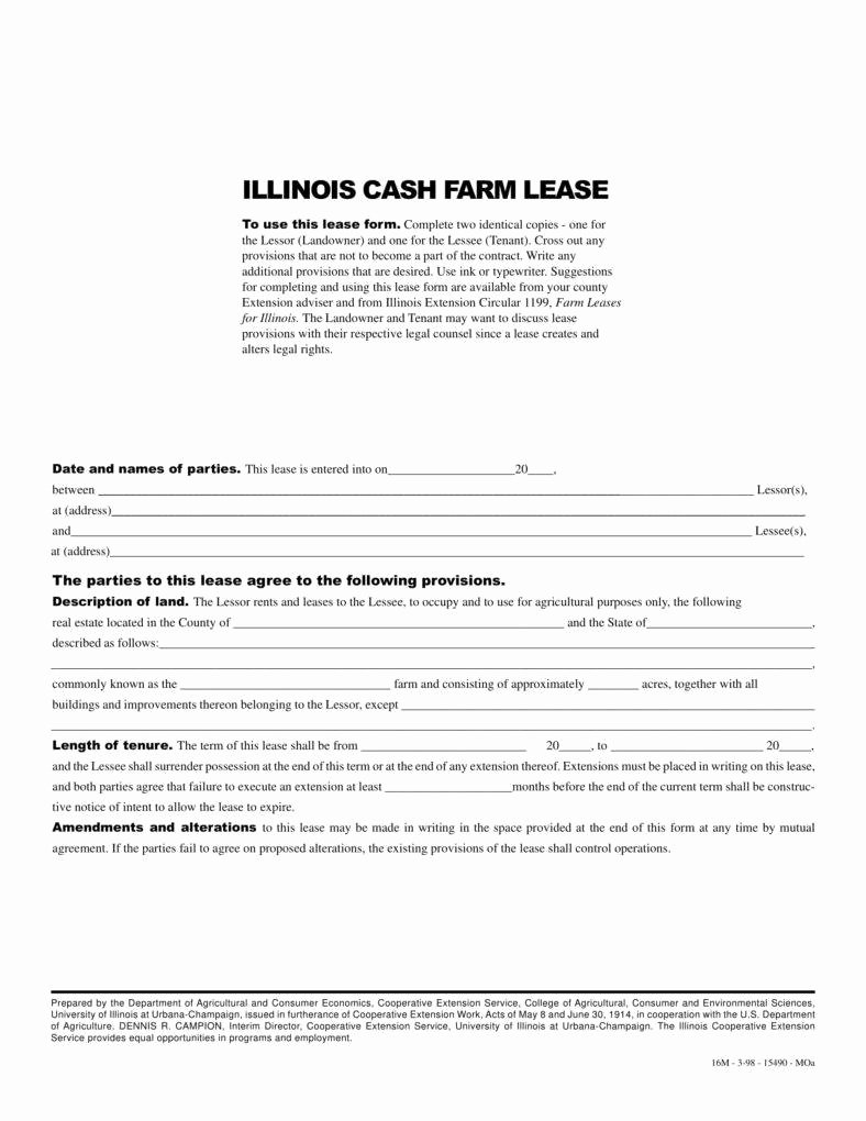 8 Farm Lease Agreement Templates Pdf