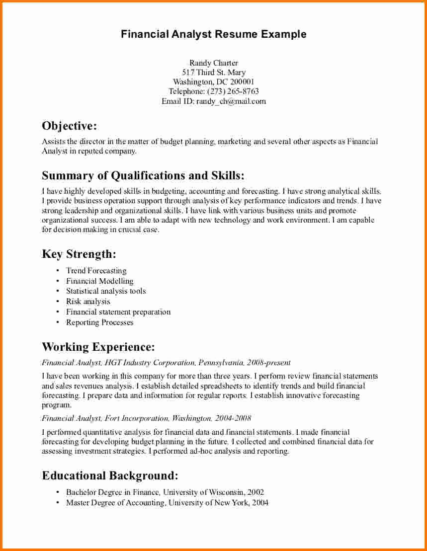8 Finance Analyst Resume