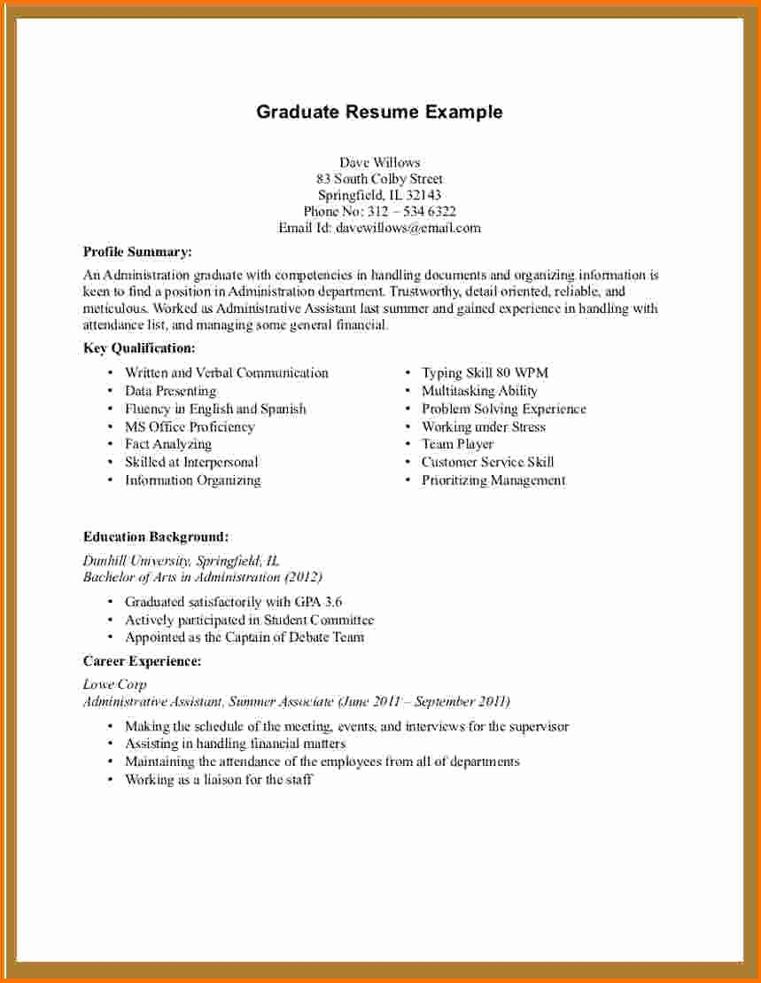 8 First Resume Template No Experience