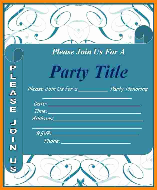 8 format for Invitation Card