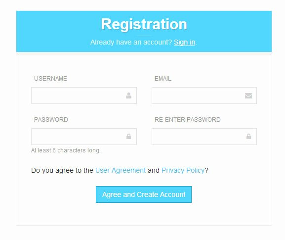 8 Free Bootstrap Signup & Registration form Templates