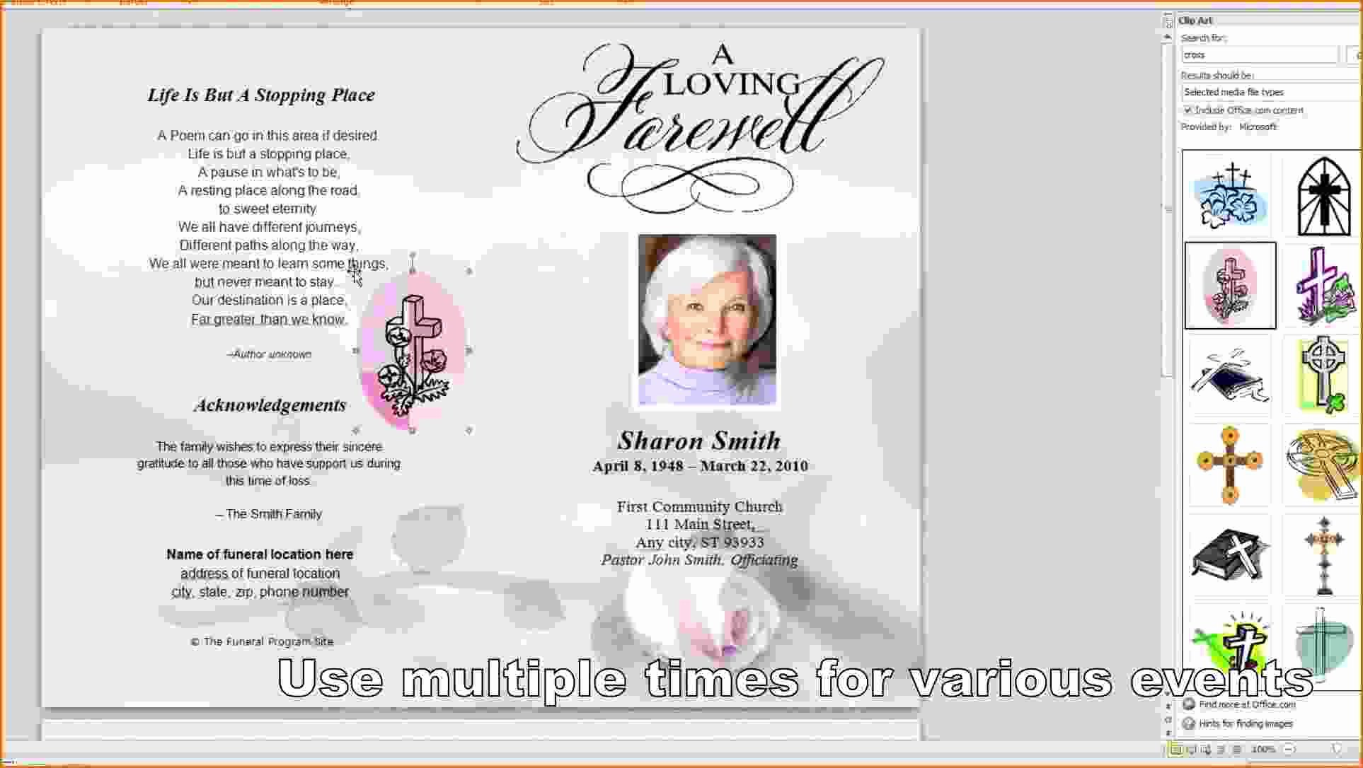 8 Free Funeral Program Template Microsoft Word