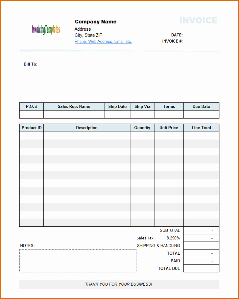 8 Free Printable Invoices