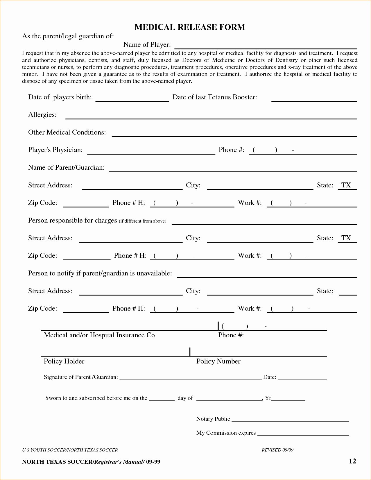 8 Free Printable Medical forms