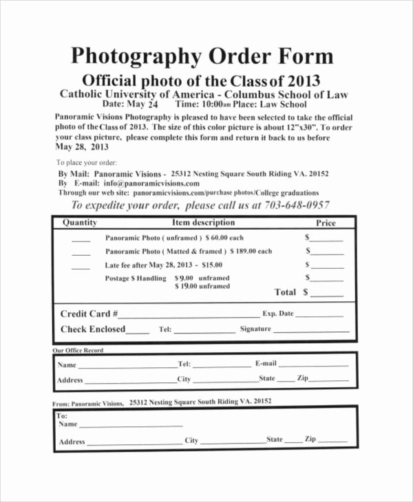 8 Free Printable order form Samples