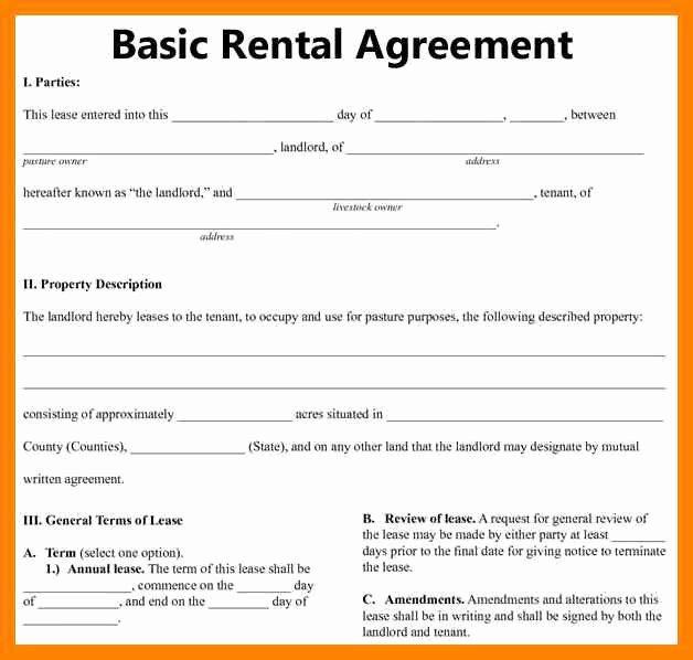 8 Free Printable Sample Rental Agreement