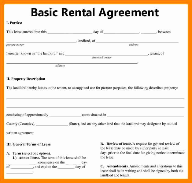8 Free Printable Sample Rental Agreement