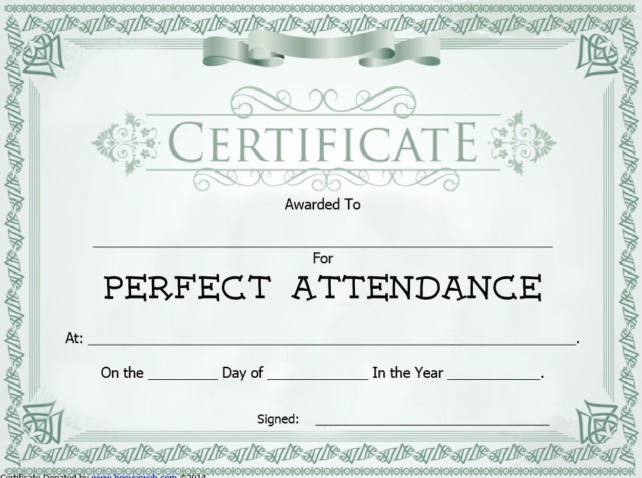 8 Free Sample attendance Certificate Templates Printable