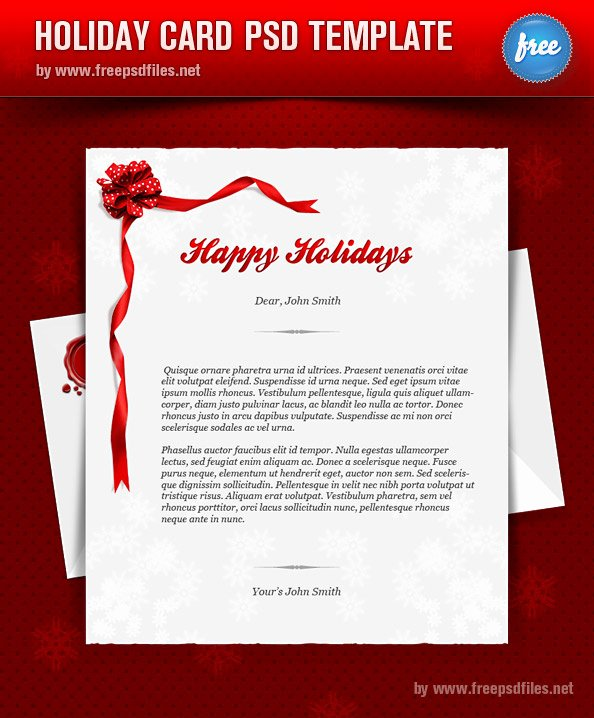 8 Free Shop Christmas Card Templates