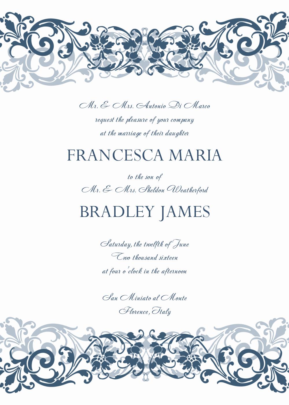 8 Free Wedding Invitation Templates Excel Pdf formats