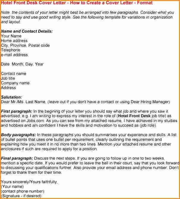 8 Front Desk Receptionist Cover Letter