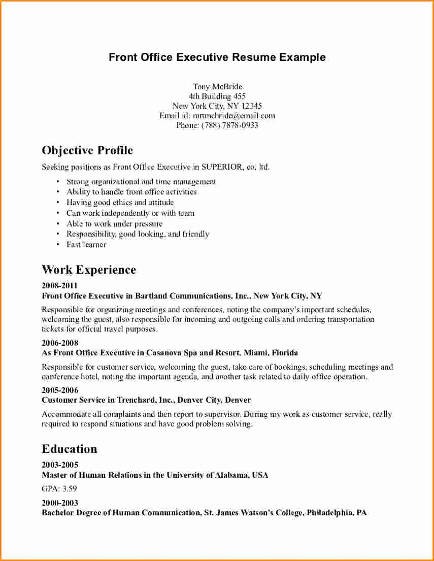 8 Front Desk Receptionist Resume Samples