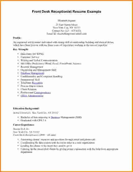8 Front Desk Receptionist Resume Samples