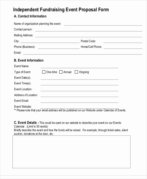 8 Fundraising event Proposal Templates Free Sample