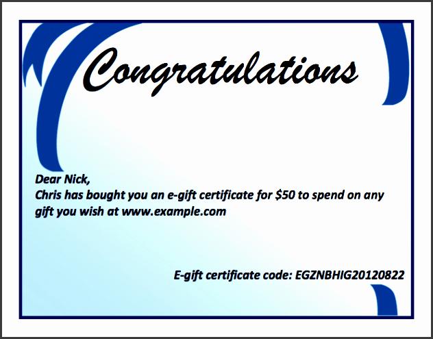 8 Gift Certificate Template In Word Sampletemplatess