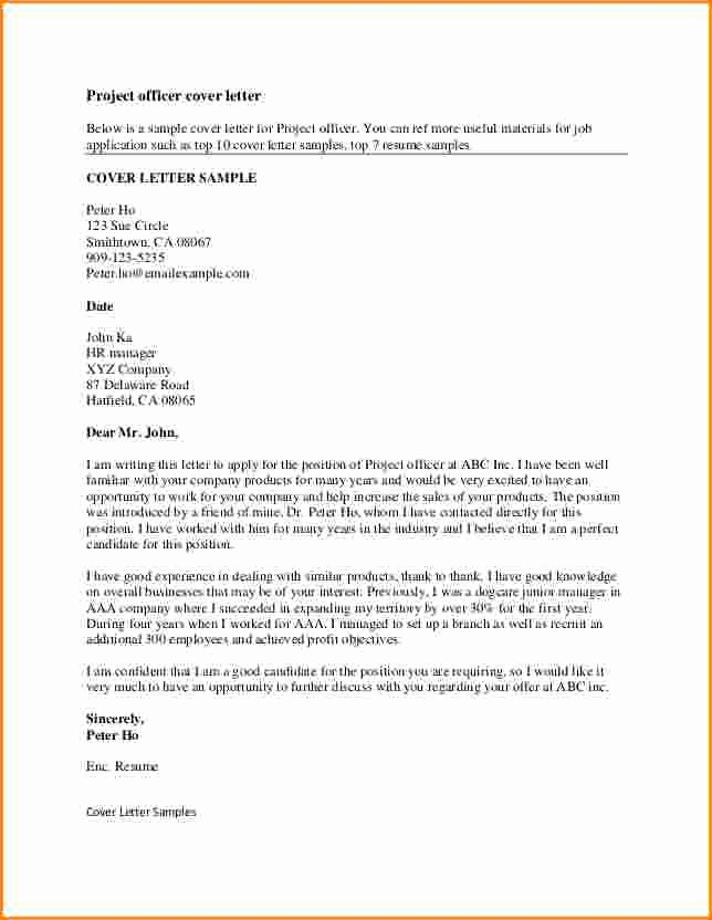 8 Good Resume Cover Letter