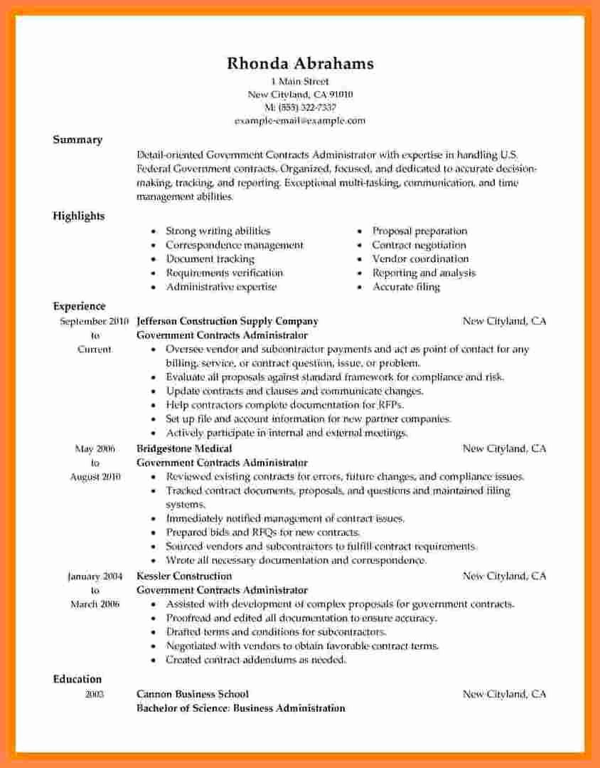 8 Government Style Resume
