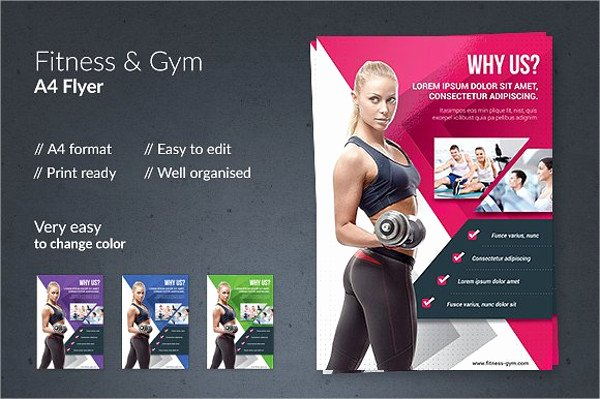 8 Gym Flyers Printable Psd Ai Vector Eps format