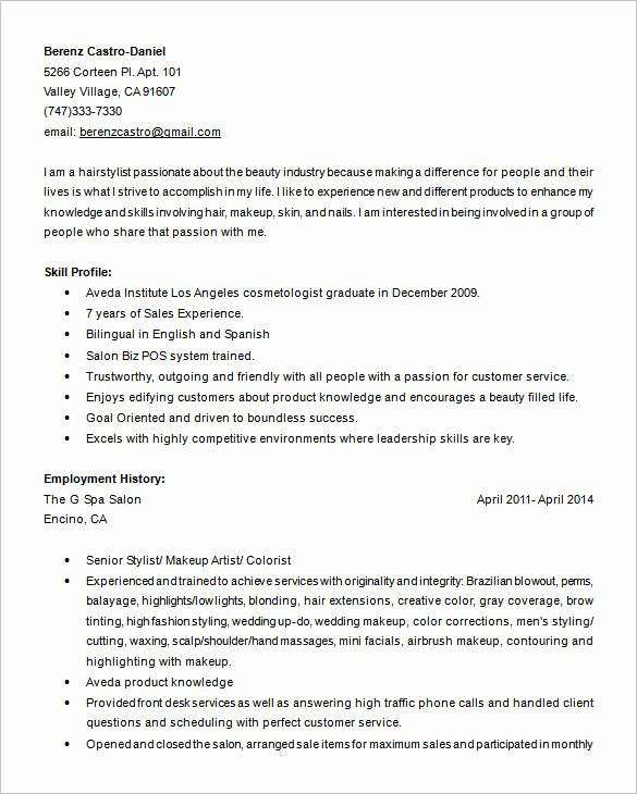 8 Hair Stylist Resume Templates Doc Pdf